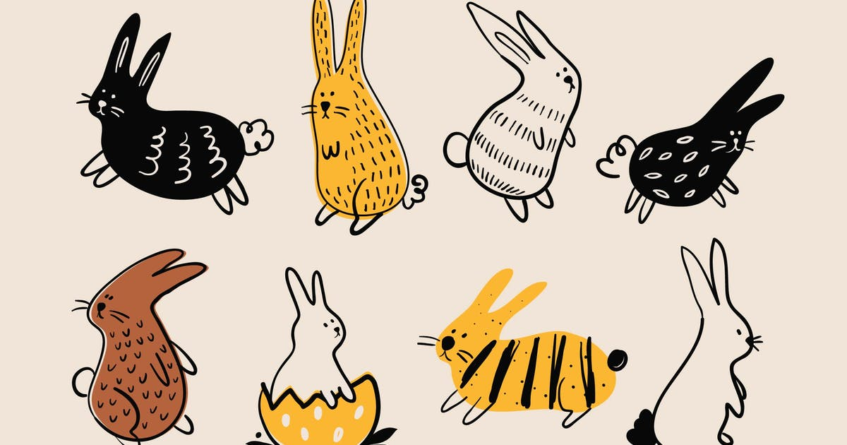 Download Doodly Easter Bunnies by Jumsoft