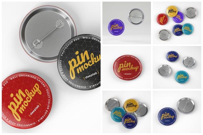 Thumbnail for Ensemble de maquettes de boutons broches brillants