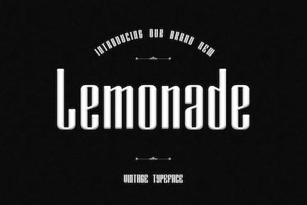 Lemonade Unique Display Font
