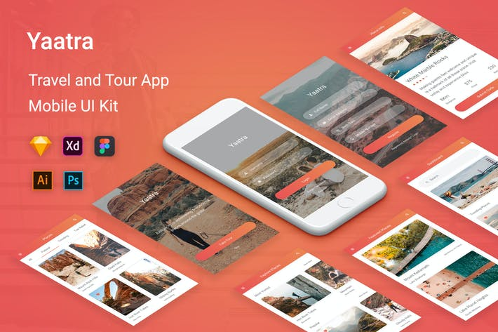 Thumbnail for Yaatra - Travel & Tour UI Kit