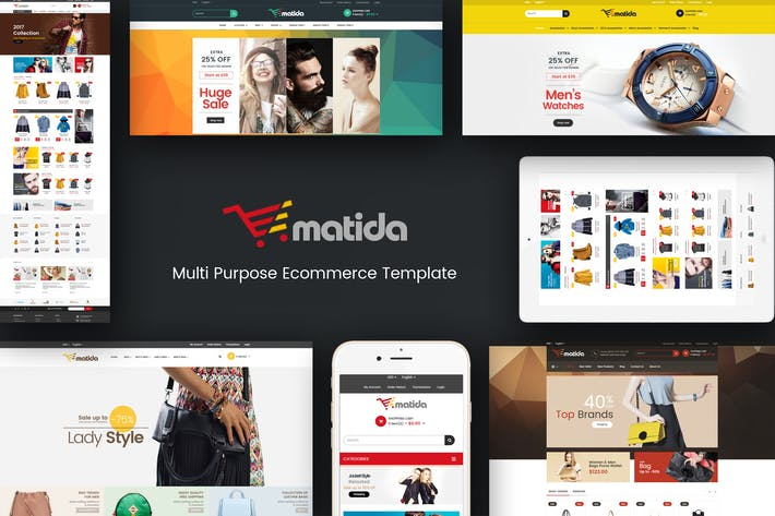 Thumbnail for Matida - Multipurpose Responsive Magento Theme
