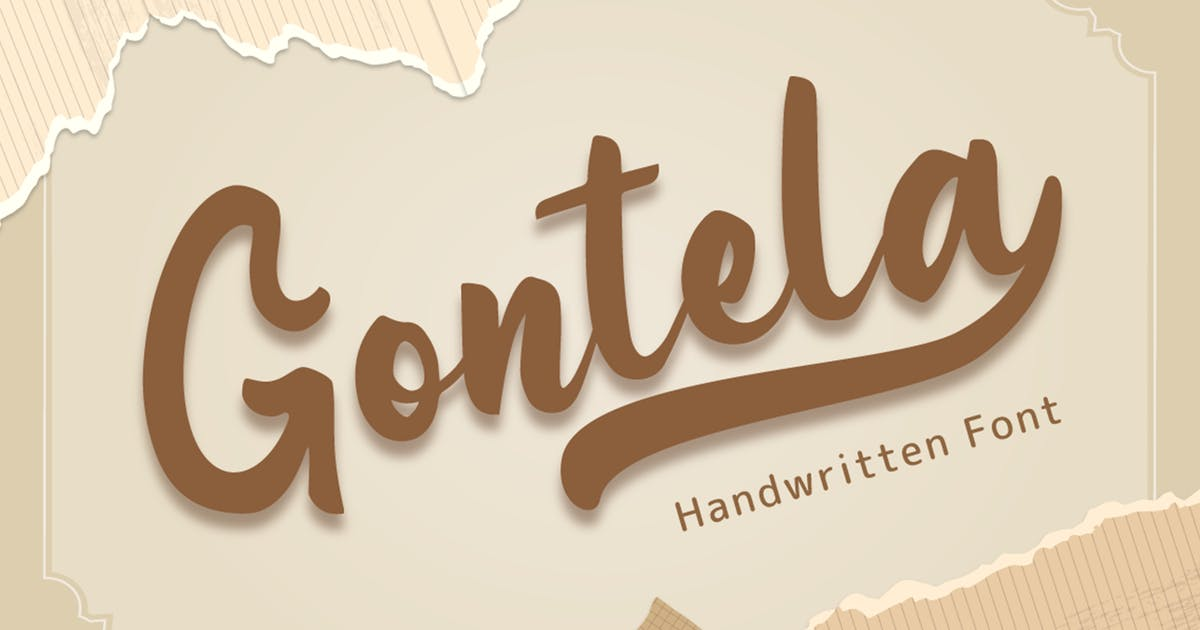 Download Gontela - Handwritten Font by Attype-Studio