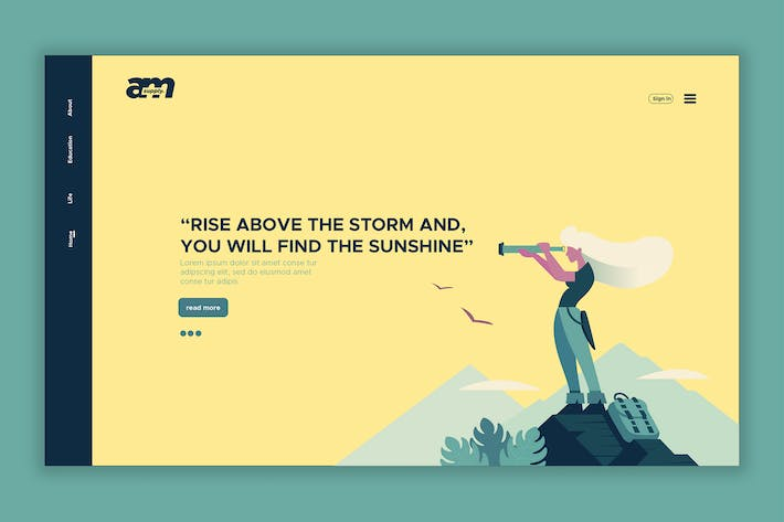 Thumbnail for Find the Sunshine - Web Header & Landing Page