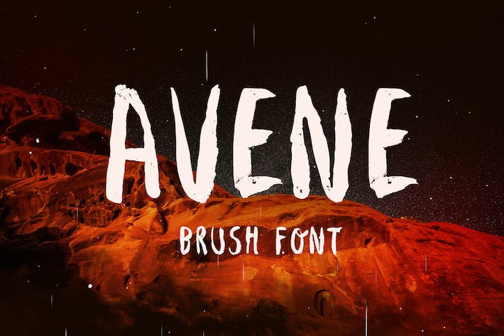 Thumbnail for Avene Brush Font