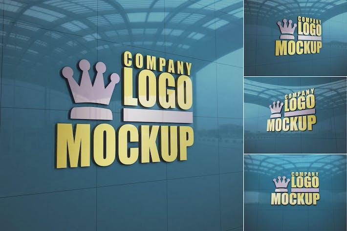 Thumbnail for Logo Sign Wall - Mockup FH
