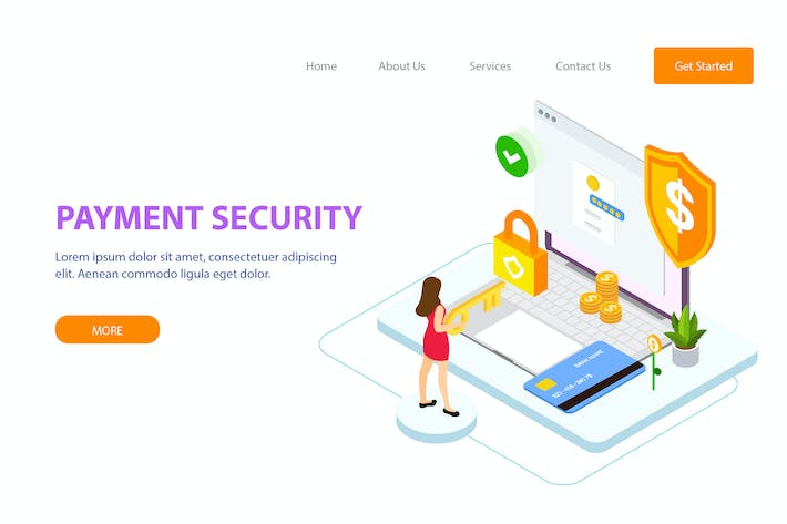 Thumbnail for Payment Security Isometric Illustration - FV