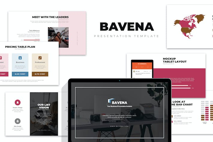 Thumbnail for Bavena :  Startup Initial Pitch Deck Powerpoint