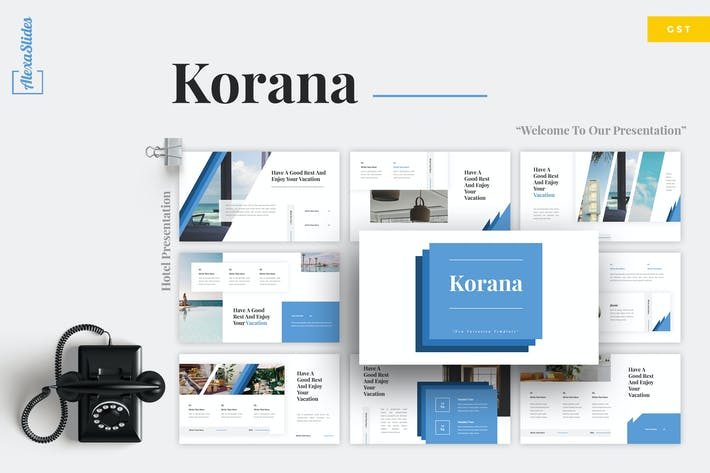 Thumbnail for Korana - Hotel Google Slides Template