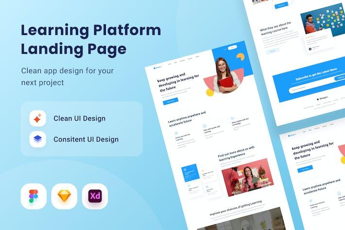 Learningg Platform Landing Page