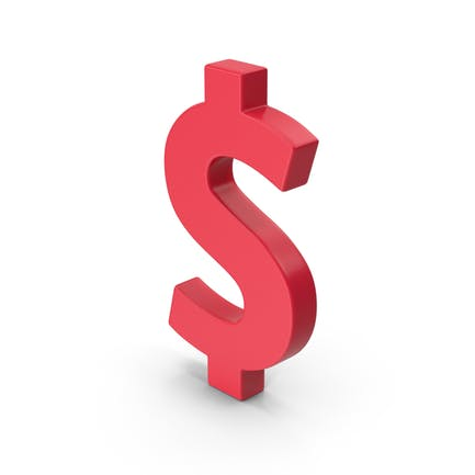 Red Dollar Symbol