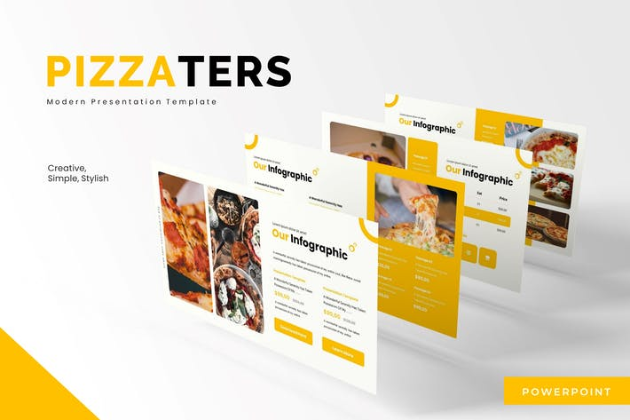 Thumbnail for Pizzaters - Powerpoint Template