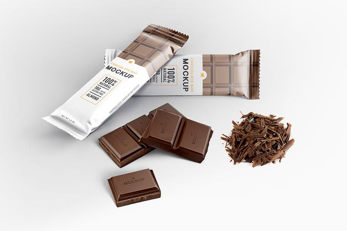 Thumbnail for Chocolate Bar Packaging Mockup