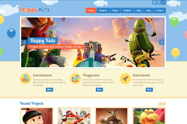Thumbnail for Happy Kids HTML Template