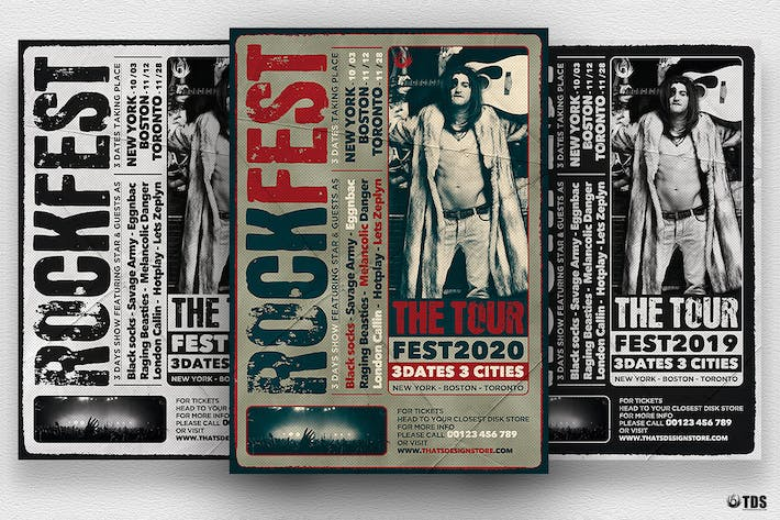 Thumbnail for Distressed Rockfest Flyer Template