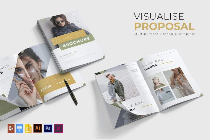 Cover Image For Visualise | Brochure Template