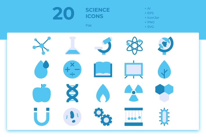 Thumbnail for 20 Science Icons (Flat)