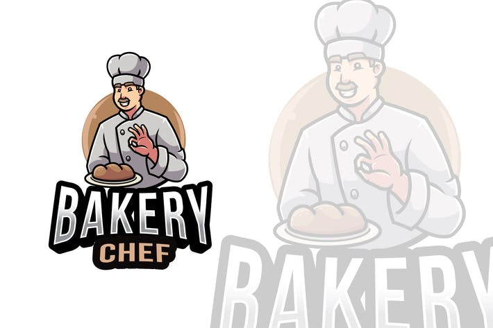 Thumbnail for Bakery Chef Logo Template