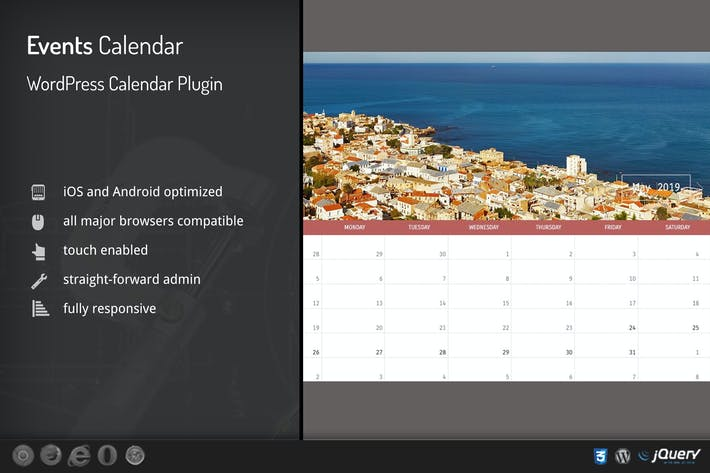 Thumbnail for Events Calendar - WordPress Plugin