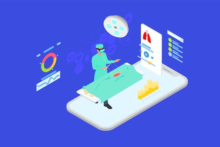 Thumbnail for Human's Body Surgery Isometric Illustration - TU