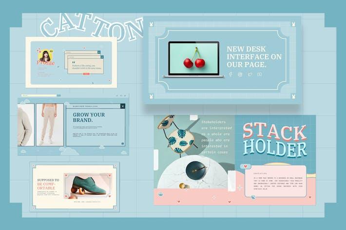 Thumbnail for Catton Cute Pastel Keynote Template - JJ