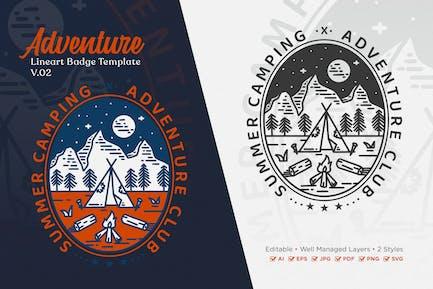Adventure Monoline Logo Badge Template V.02
