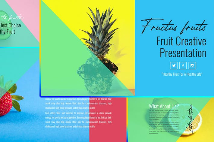 Thumbnail for Fructus – Fruits Business PowerPoint Template