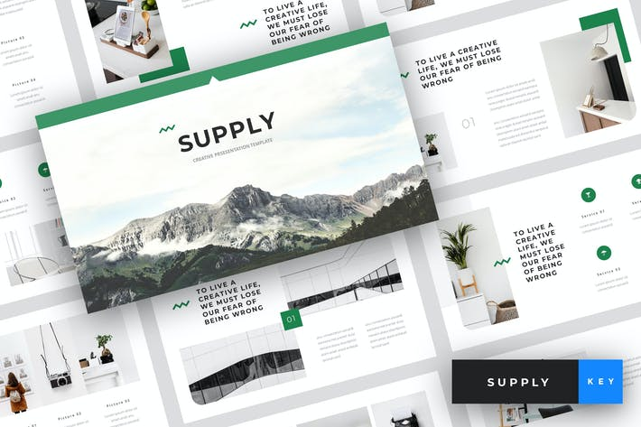 Thumbnail for Supply - Creative Keynote Template