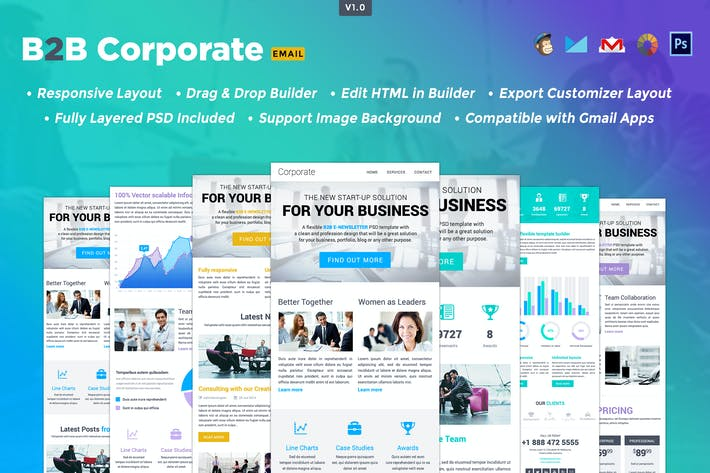 Thumbnail for B2B- Responsive HTML Email Template
