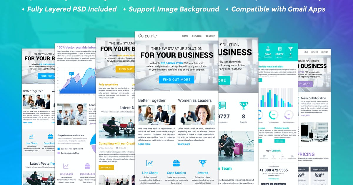 Download B2B- Responsive HTML Email Template by JeetuG