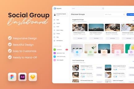 Social Group Dashboard UI Kit