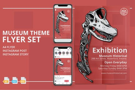 Museum Theme Flyer - Print and Social Media Pack