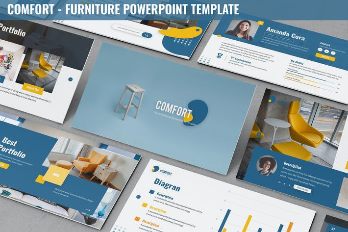 Thumbnail for Comfort - Furniture Powerpoint Template