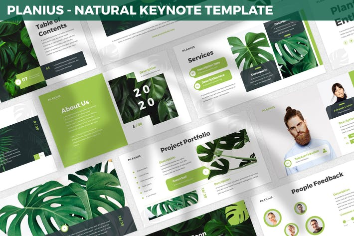 Planius - Natural Keynote Template