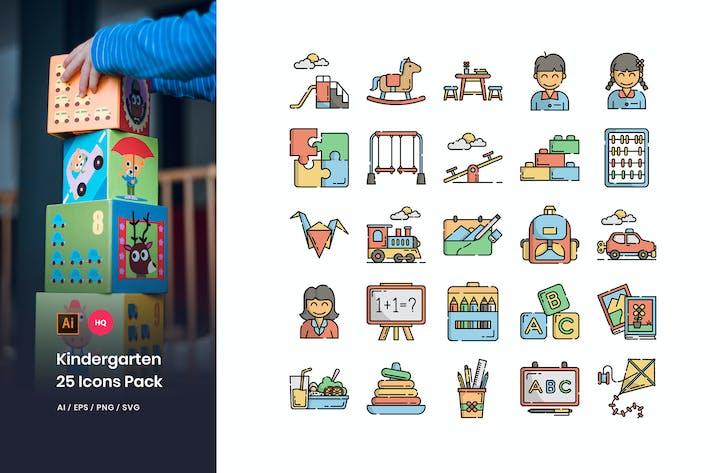 Thumbnail for Kindergarten Icons Pack