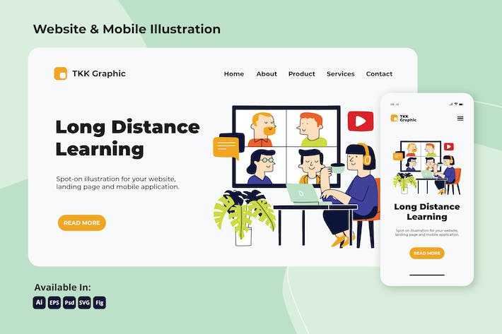 Thumbnail for Long Distance learning education web and mobile