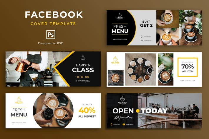 Thumbnail for Coffee Facebook Cover Template
