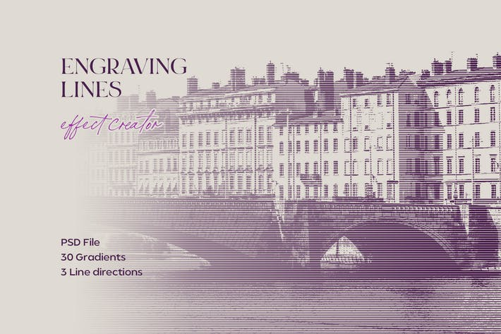 Thumbnail for Engraving Lines Photoshop Effect