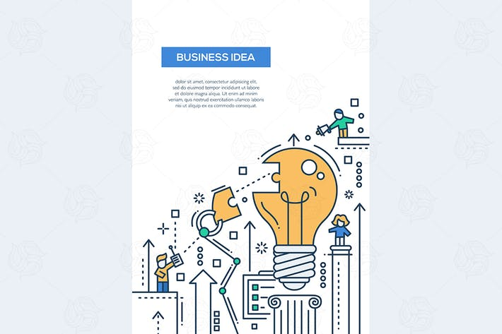 Cover Image For Business Idea - line design A4 size layout