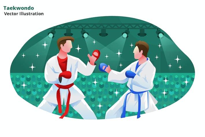 Taekwondo - Vector Illustration