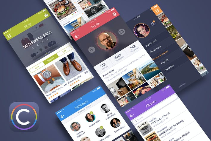 Thumbnail for Coloristic UI Kit