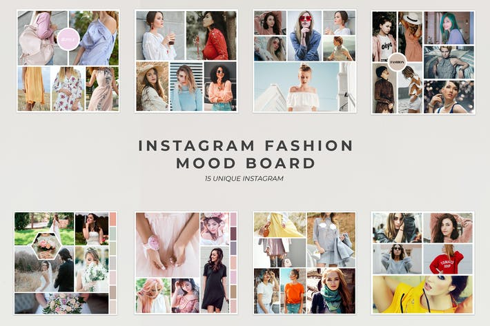 Thumbnail for Instagram Fashion Mood Board