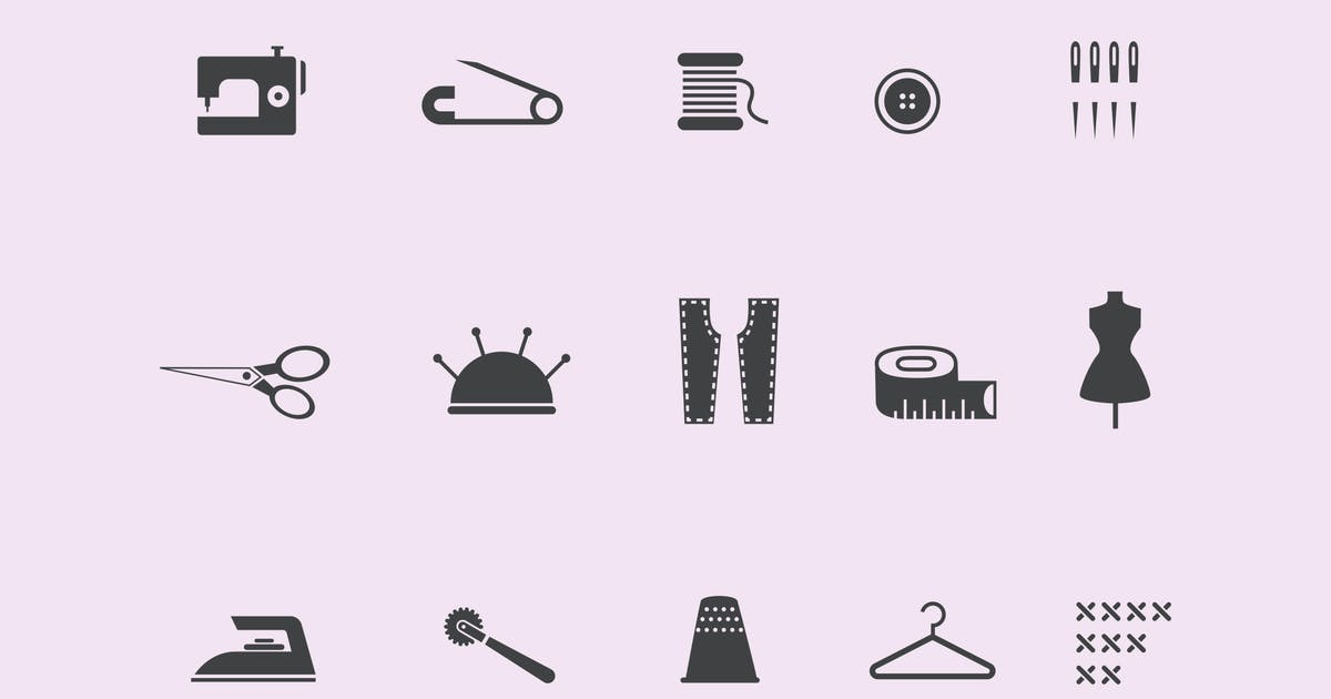 Download 15 Sewing and Stitching Icons by creativevip