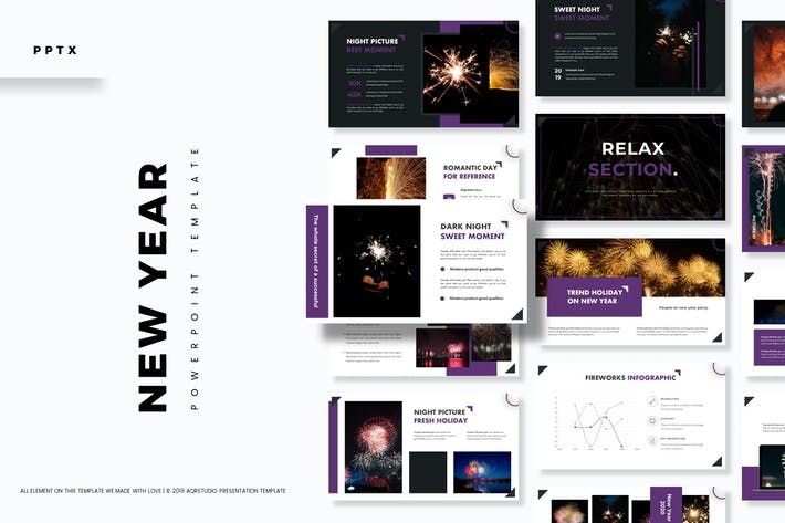 Thumbnail for New Year - Powerpoint Template