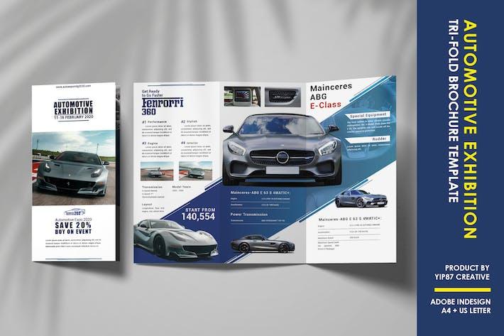 Thumbnail for Automotive Exhibition Trifold Brochure