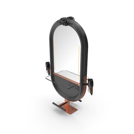 Hairdresser Table Mirror Black Copper