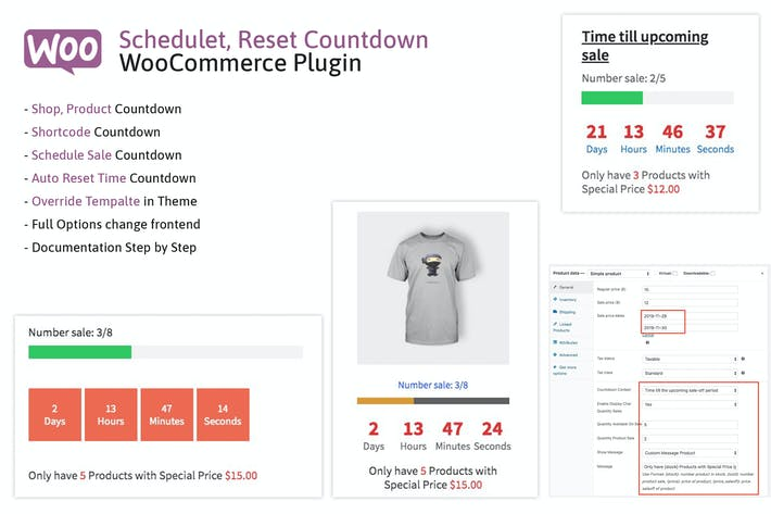 Thumbnail for Schedule, Reset Countdown Plugin WooCommerce WooCP