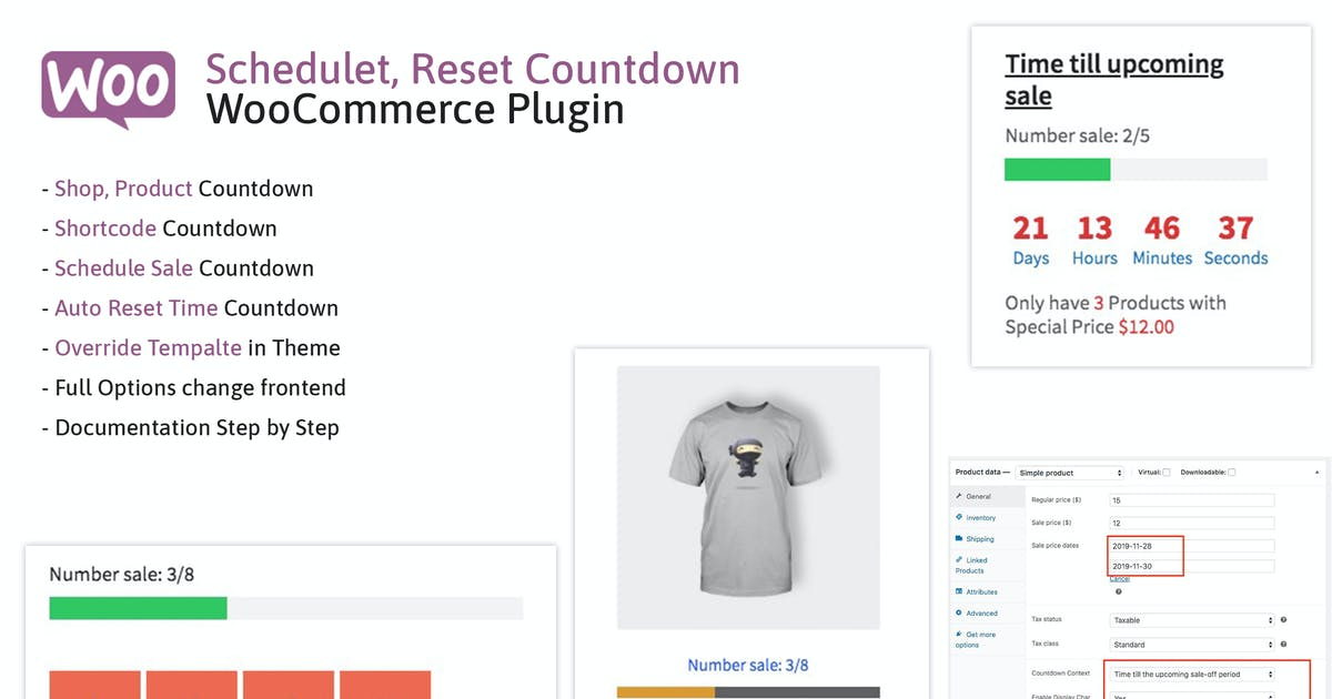Download Schedule, Reset Countdown Plugin WooCommerce WooCP by ovatheme