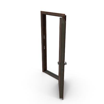 Входная дверь Орех поврежден