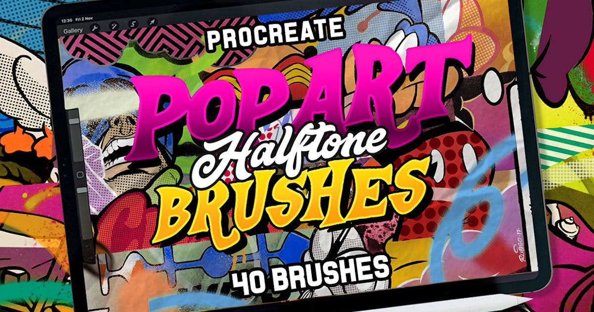 Download POP ART BRUSHES KIT by Sizimon-id