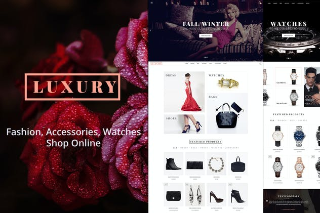 Luxury - E-Commerce and Blog Template